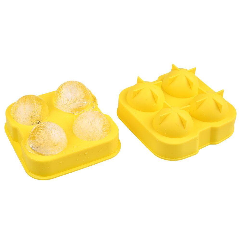 Hình ảnh Ice Silicone 4 Holes Whiskey Beer Brick Round Party Barware Tray Tools