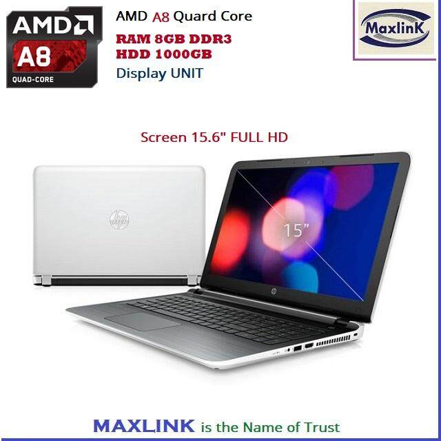 HP Pavilion Laptop AMD A8 Quard Core 8GB 1TB HP Laptop 15-ab101ax (Ex Display/Demo Set) Malaysia