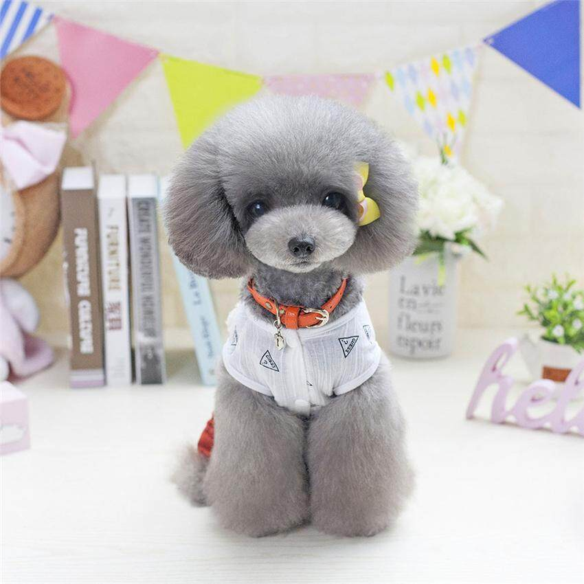 Hình ảnh 2018 New Pet Cat Clothes Kitten Sleeveless Shirt and Trousers Puppy Dog Costume Scrawl Suit Summer Cat Apparel