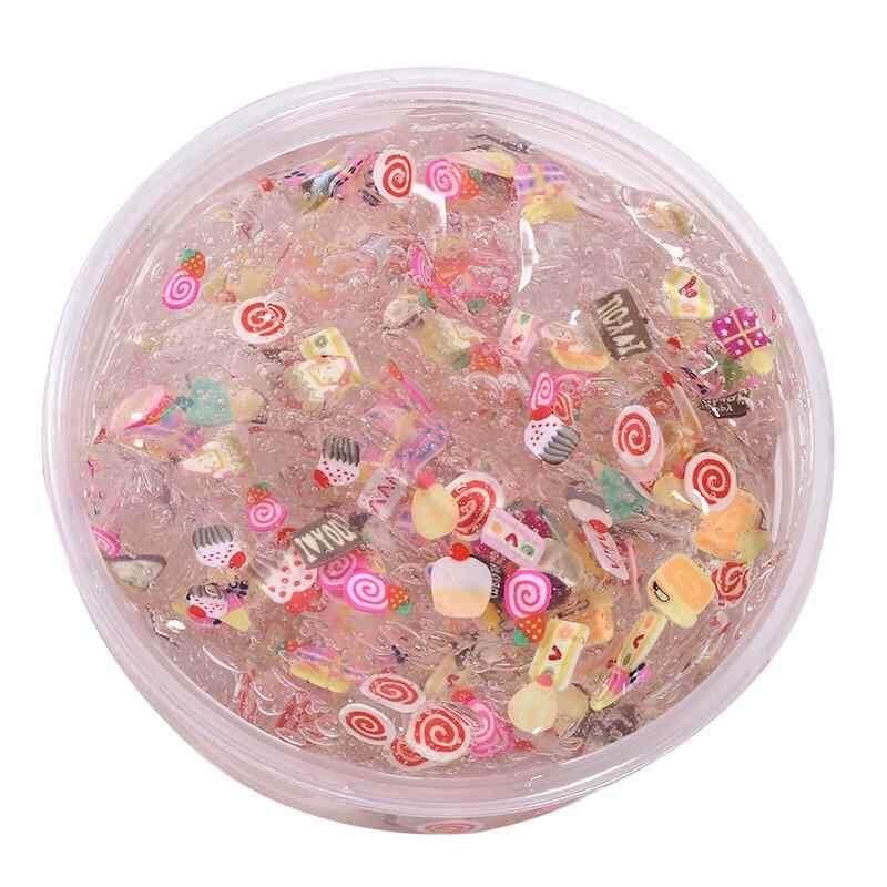 Hình ảnh burstore Crystal Fruit Clay Rubber Mud Intelligent Hand Gum Plasticine Slime Kid Toys - intl
