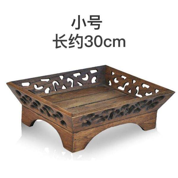 Thailand Solid Wood Fruit Tray, Living Room Tea Table Home Decoration, Retro Fruit Basket, New Chinese Style Dried Fruit Snack Plate