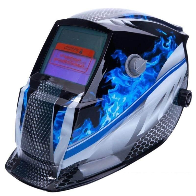 Welding Helmet Mask Solar Auto Darkening,Adjustable Shade Range DIN 9-13/Rest DIN 4,Welder Protective Gear ARC MIG TIG (Blue Racer)