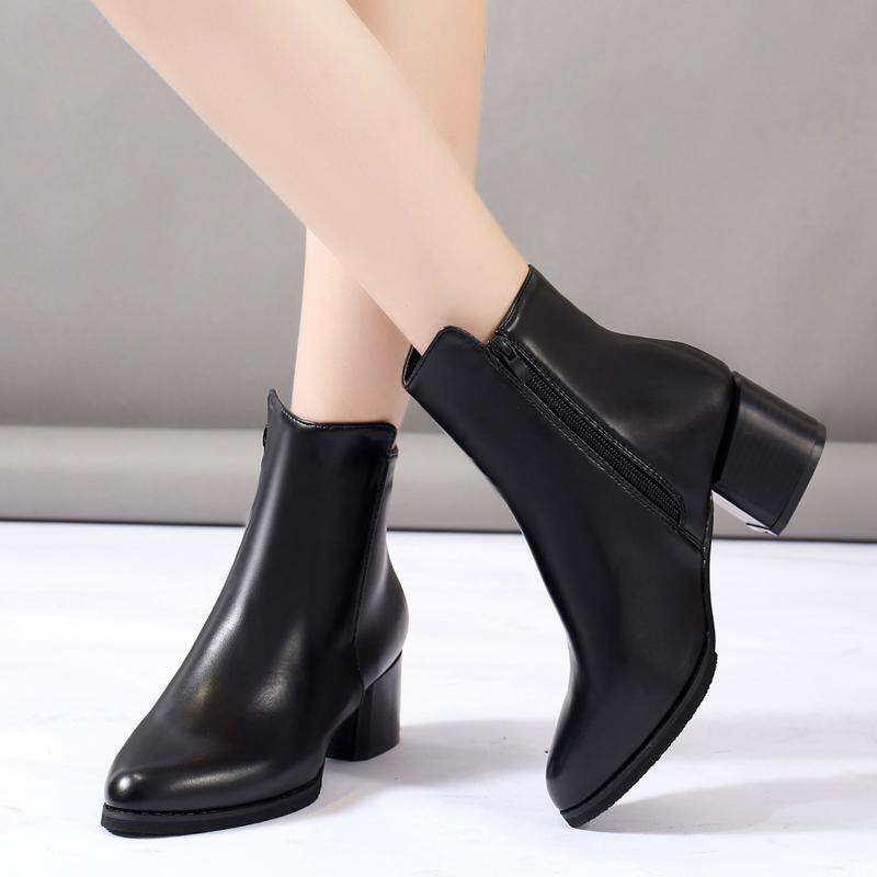 3ec79601e9f2 China. Fashion high martin boots for women leather shoes for women flat  shoes casual mother shoes work