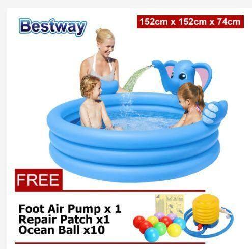 Elephant Three-Ring Water Spray Inflatable Pool Kid Swimming Pool