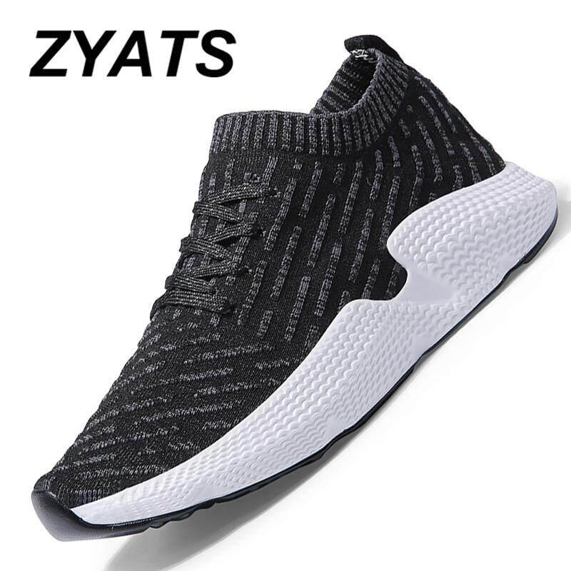 Zyats 2018 Modis Pria dan Wanita Menjalankan Sepatu Olahraga Luar Ruangan Sneakers Berjalan Sepatu Jalanan Gaya