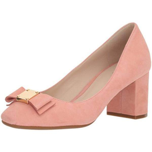 Cole Haan Womens Tali Bow Pump, Coral Almond Suede, 7 B US - intl