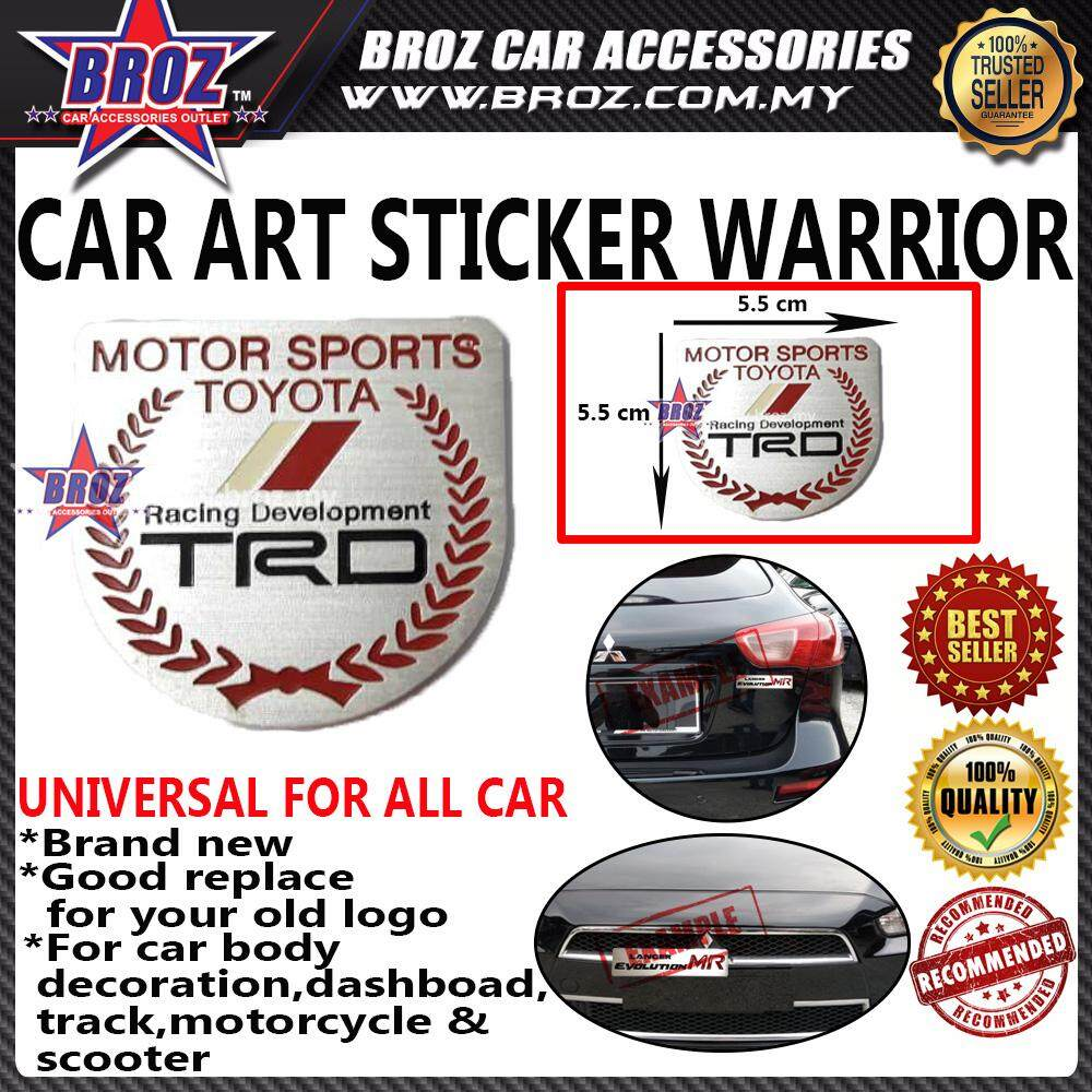 Toyota TRD 2 Car Art Sticker Warrior
