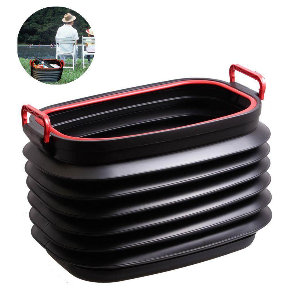 For Camping Fishing Large Capacity Collapsible Bucket Multifunctional Trash Can