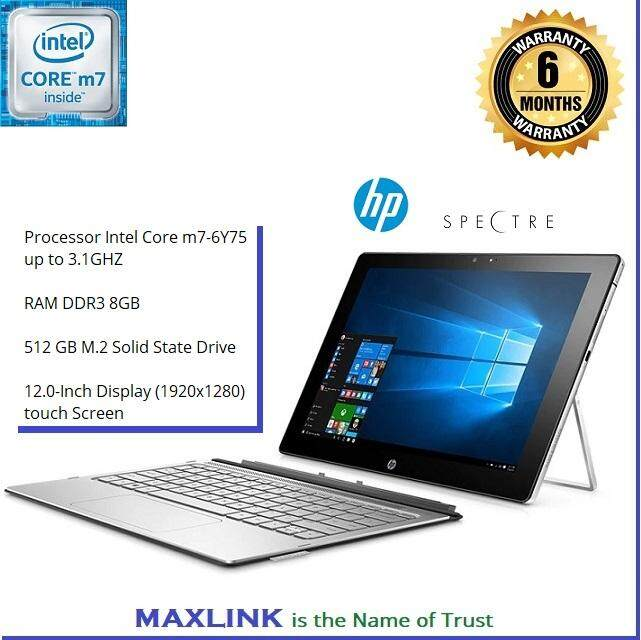 HP Spectre x2 12-inch Detachable Laptop, Intel Core m7-6Y75, 8GB RAM, 512GB SSD, Windows 10 (Ex Display/Demo Set) (Warranty 6 MONTHS) Malaysia
