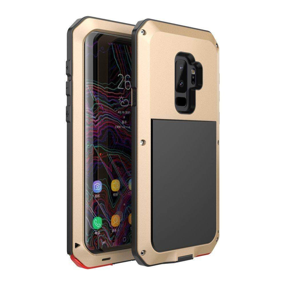 Untuk Galaxy S9 Plus Case, bixby Button Tahan Air Aluminium Tahan Goncangan Logam Super Anti Goyang Silikon Sepenuhnya Tubuh Perlindungan untuk Samsung Galaxy S9 Plus-2018 Keluaran Terbaru (kuning) -Intl