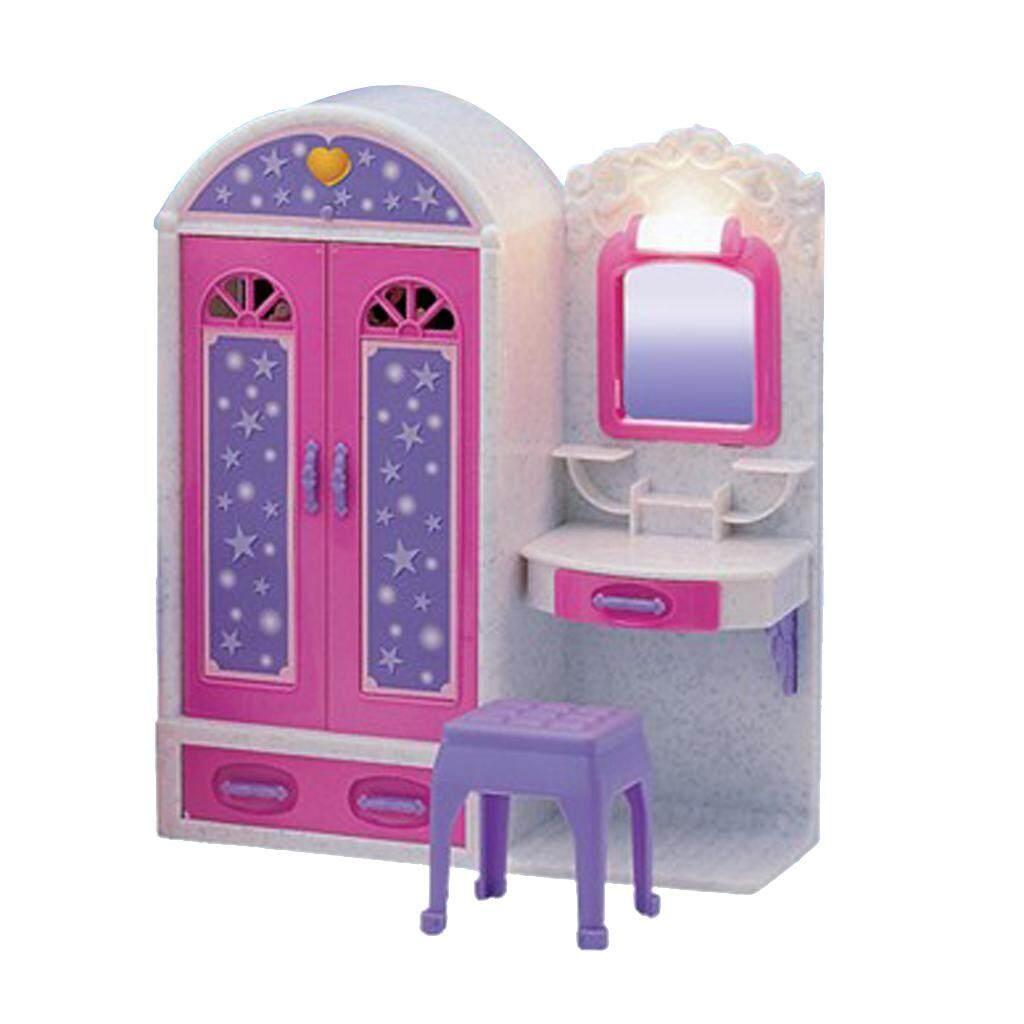 BolehDeals Plastic Wardrobe Closet Play Set Furniture and Accessories for Barbie  Doll House Kids Pretend Play 94d86ff1ea