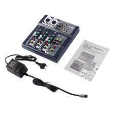4 Channel Hidup Profesional Studio Mixing Audio Suara Konsol Jaringan Jangkar Biru & Hitam-Internasional