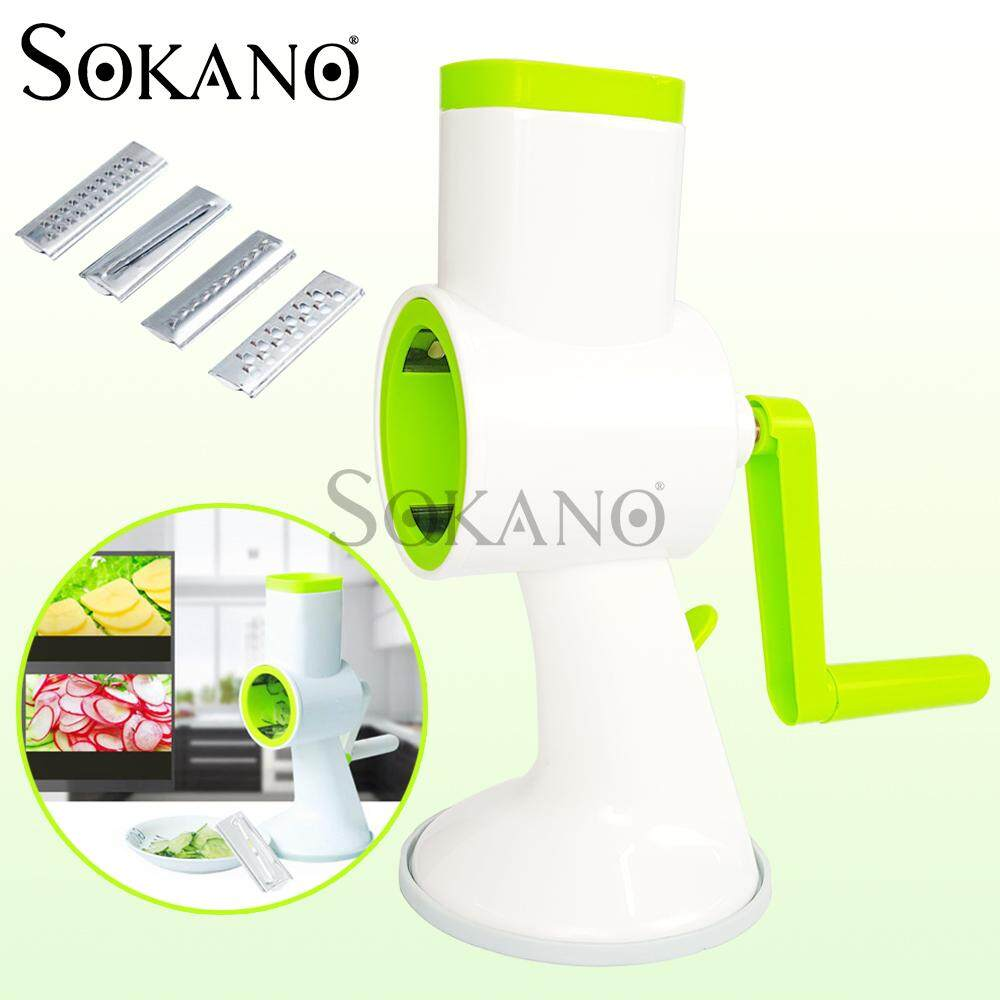 SOKANO 4 in 1 Multifunctional Fruit and Vegetable Slider (Interchangeable Blades)