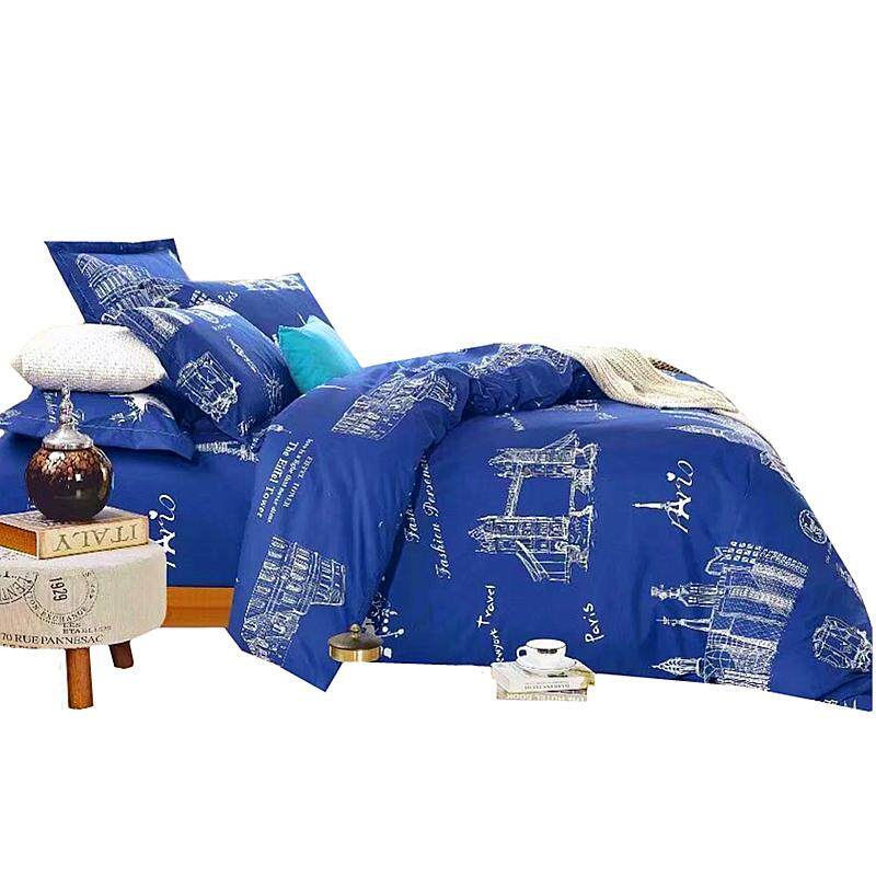 Maylee High Quality 4pcs Famous Buildings Queen Fitted Bedding Set (FM-BUL)