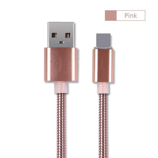 30 Cm Mewah Kabel USB Logam Cepat Pengisian Universal Sinkronisasi Data untuk Apple iPhone 5 6 6 S 7 7 Plus X xr X Max