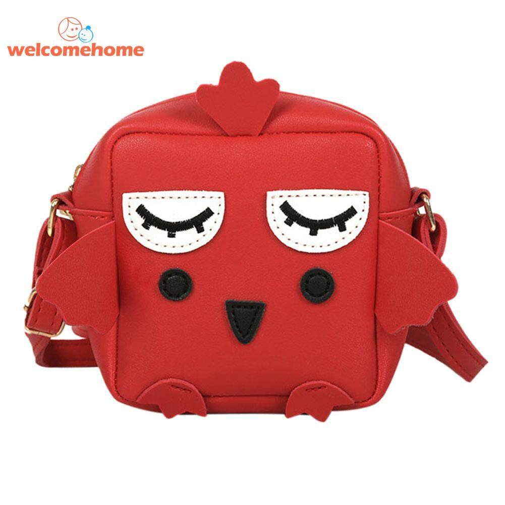 Cute Kids PU Leather Cartoon Animal Messenger Bags Girls Shoulder Handbags