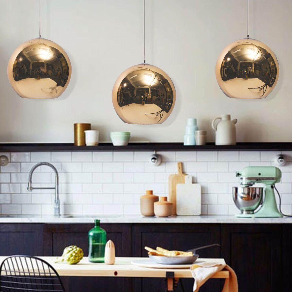 Glass Mirror Ball Ceiling Pendant Dining Light Modern Lamp Chandelier # 45cm