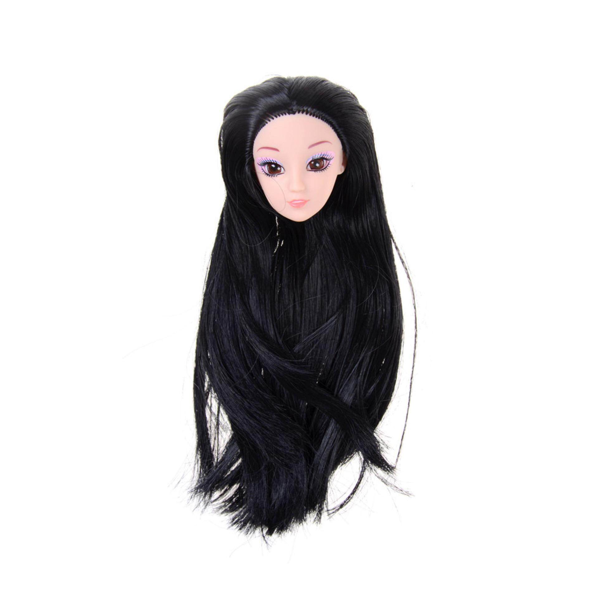 5ec35c5de7 3D Eyes Head Nake Joints Body Doll Head Toys For Barbie Dolls Girls Gift  Black - intl