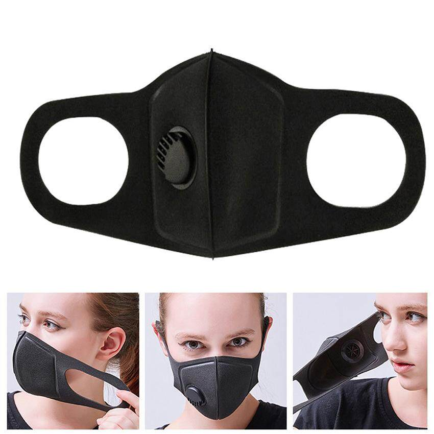 Face Mask Washable and Reusable Mouth Cover Dustproof Respirator Safety Mask  with Breath Valve Made for 07fcafd4b4