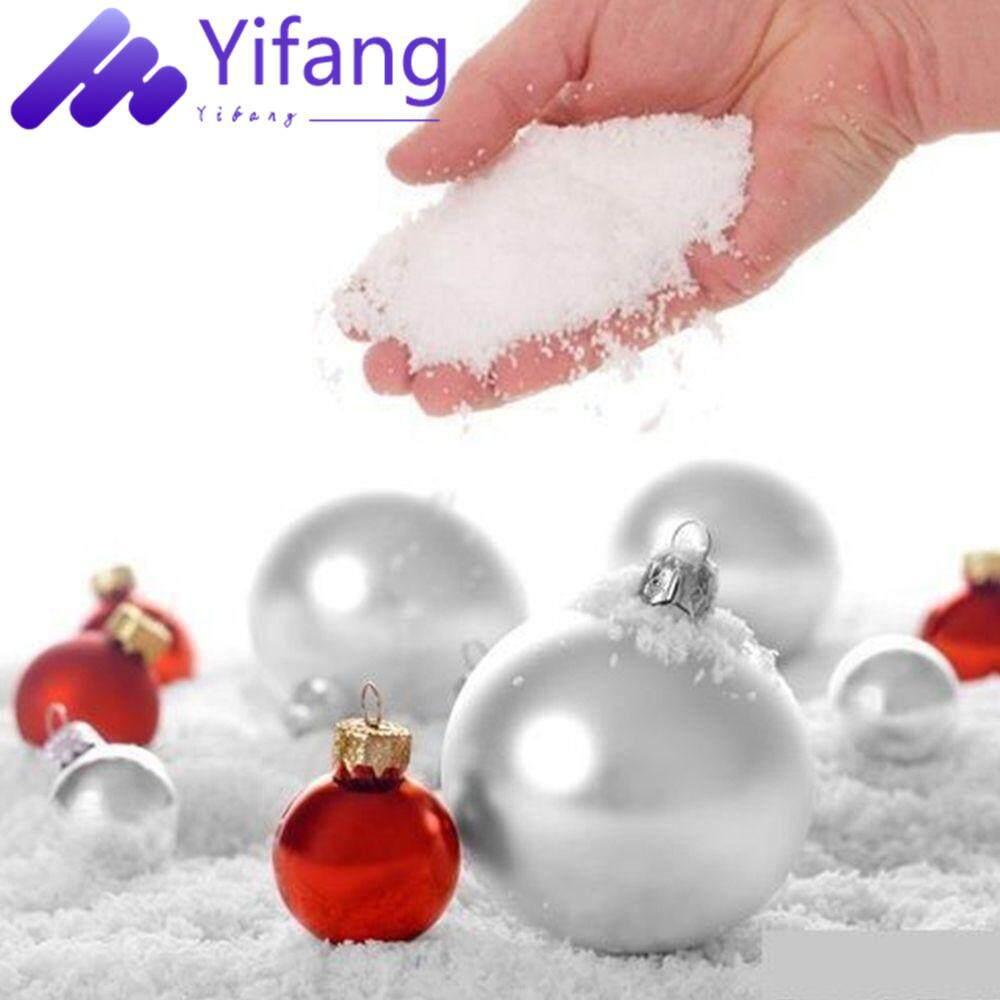 Yifang-30 Buah Kepingan Salju Peredam Super Dekorasi Fake Magic Instan Salju Berbulu untuk Natal