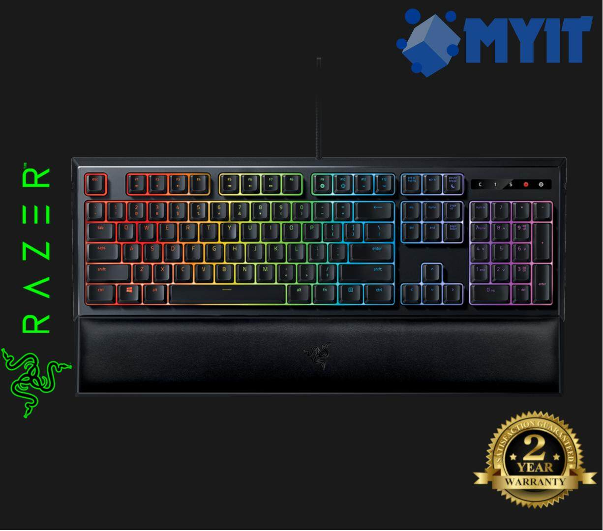 Razer Original Ornata Chroma Edition RGB Mechanical Feel Mecha-Membrane Full Sized Gaming Keyboard (Clicky Tactile Mid-height Keycap)