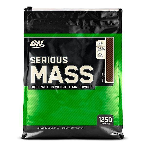 Optimum Nutrition Serious Mass, Chocolate, 12lbs