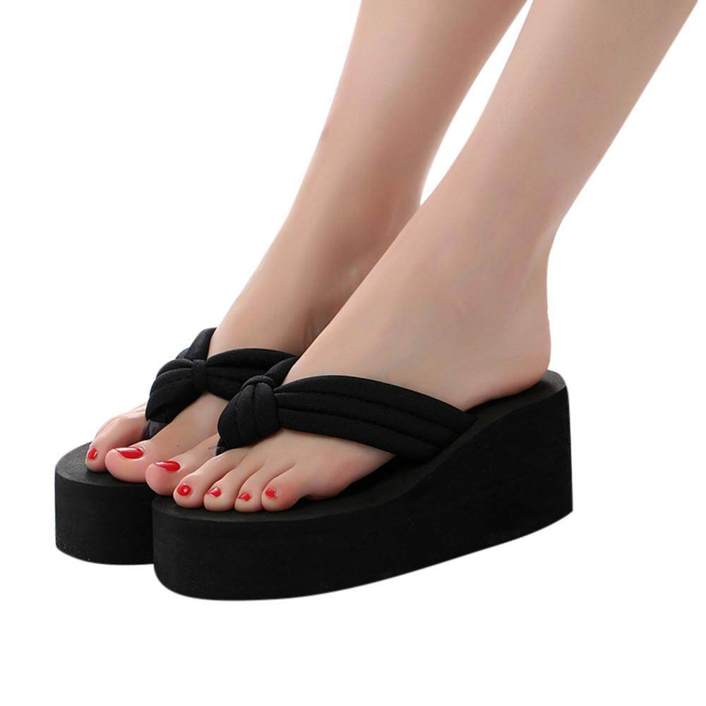 91c24c010065cd Shoes for Women Girls New Women Fashion Anti Skidding Thick Bottom slipsole Flip  Flops Beach Shoes