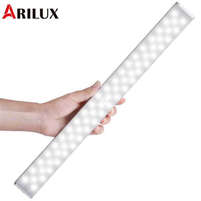 ARILUX Wireless 68 LED Light Light-Controlled & PIR Motion Sensor Dimmable USB Rechargeable Cabinet Night Light