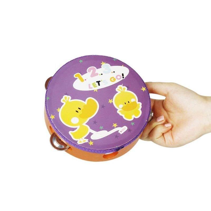 OSMAN 1 cái Nhiều Màu Sắc 15 cm Trống Trống Chuông Handbell Kim Loại Jingles Bộ Gõ Đồ Chơi