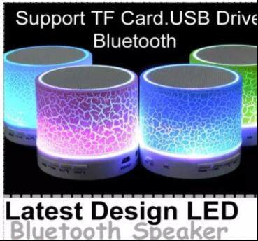 New Design LED Crack Paint Style Bluetooth Speaker,Support TF/USB/AUX