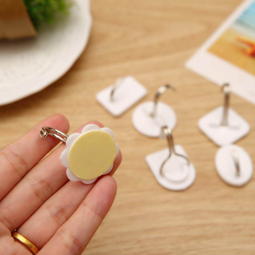 ... 6PCS Strong Adhesive Hook Wall Door Sticky Hanger Holder Kitchen Bathroom White - intl - 4 ...