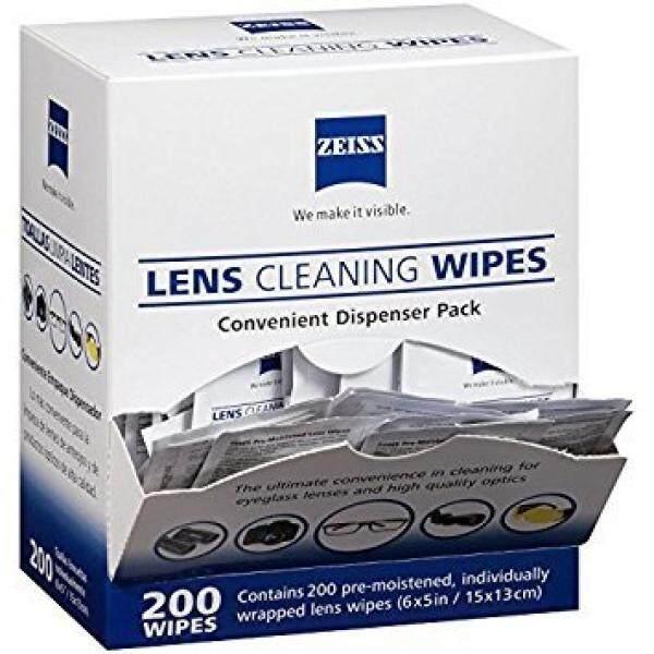 Zeiss Digunakan Dibasahi Tisu Pembersih Lensa-Membersihkan Tanpa Garis-garis untuk Kacamata dan Kacamata Hitam-(200 Count)-Intl