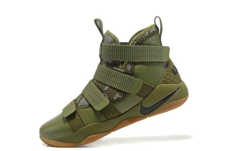 Army Green Khaki LeBron Soldier XI Mid Top LeBron James 11 Slip Resistant King James Offical Men's NBA Basketball Shoe LeBron Raymone James MVP LBJ Cavaliers #23 EU:40-45 - intl