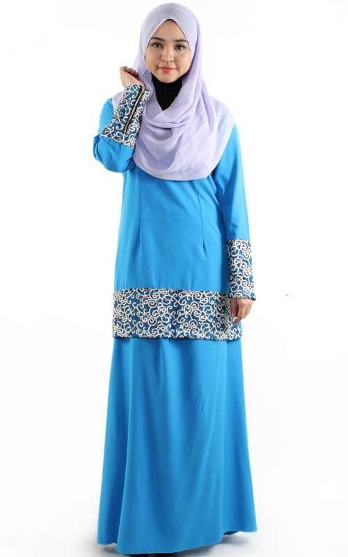 JF Fashion Kurung Dress with Lace Embroidery U341