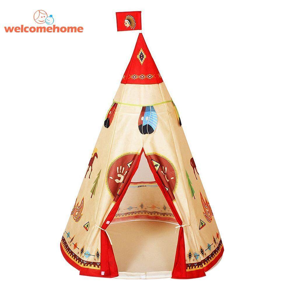 Natural Indian Pattern Unisex Children Toy Tent Cloth Indoor Game Playhouse - Intl By Welcomehome.