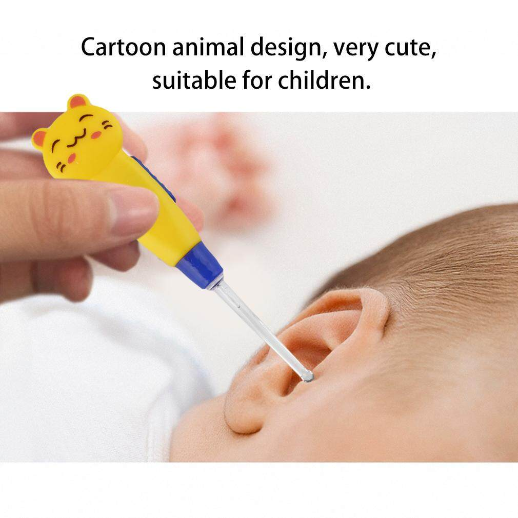 Earpick Cute Animal Cartoon Korek Kuping Karakter Pembersih Telinga Nyala Chunnuan Decorated Led Flashlight Ear Wax Remove Cleaner Intl