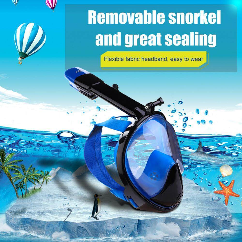 Keep Diving Full-Face Snorkeling Mask Diving 2 In 1 Dry Breath Underwater Swim Tube (blue, M) - Intl By Highfly.