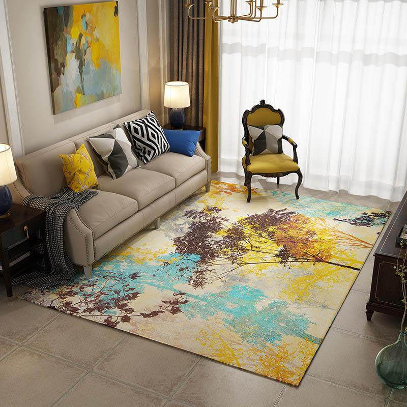 Modern Anti-slip Bedroom Bedside Floor Mat Soft Washable Area Rug for Living Room Dining Room Square Decorative Wedding Carpet Tatami Mats 200x300cm - intl