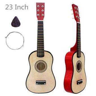ถ กท ส ดในว นน 23 Inch Basswood Acoustic Guitar Wood Color 6