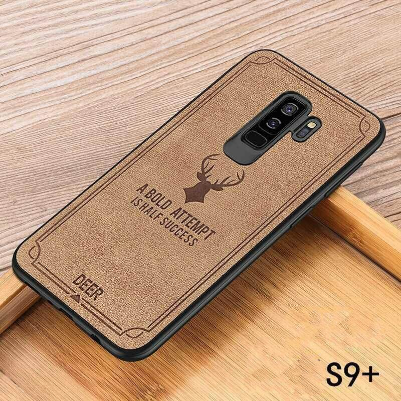 Luxuy Brand Cloth Texture Case Deer Soft Cases for Samsung Galaxy S9 PLUS Cloth Casing Elk Back Cover for Samsung Galaxy S9 PLUS Housing