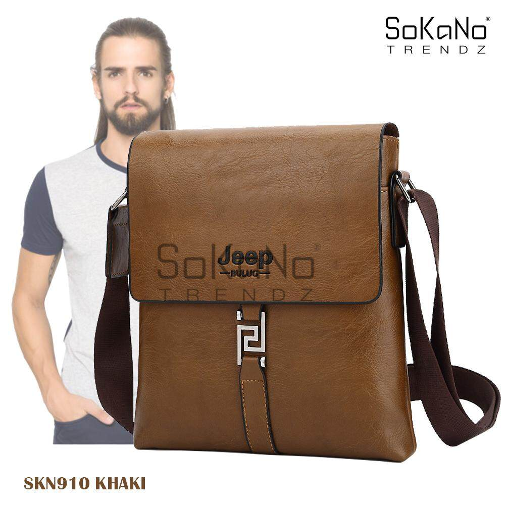 SoKaNo Trendz SKN910 Jeep Vertical PU Leather Sling Shoulder Beg Lelaki Cross Men Bag Gift