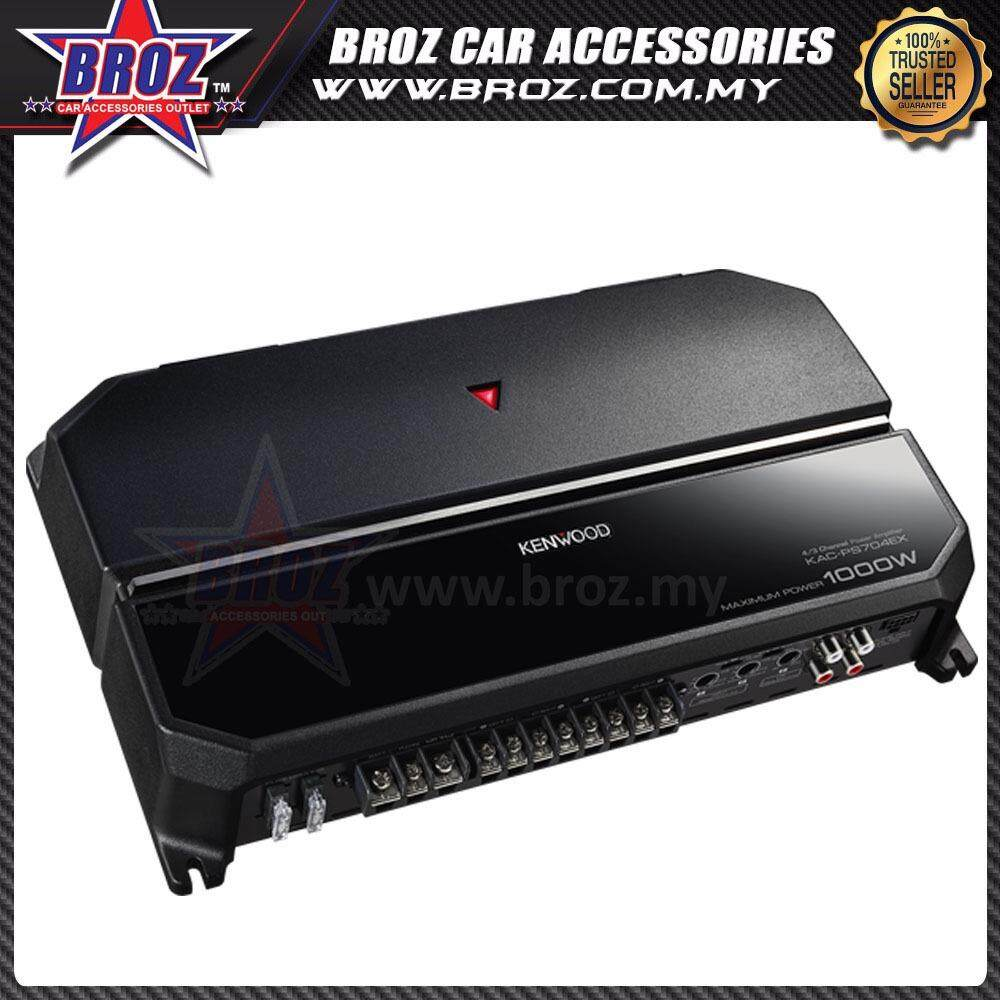 Broz Kenwood KAC-PS704EX Performance Series 4 Channel Car Amplifier 60W x 4