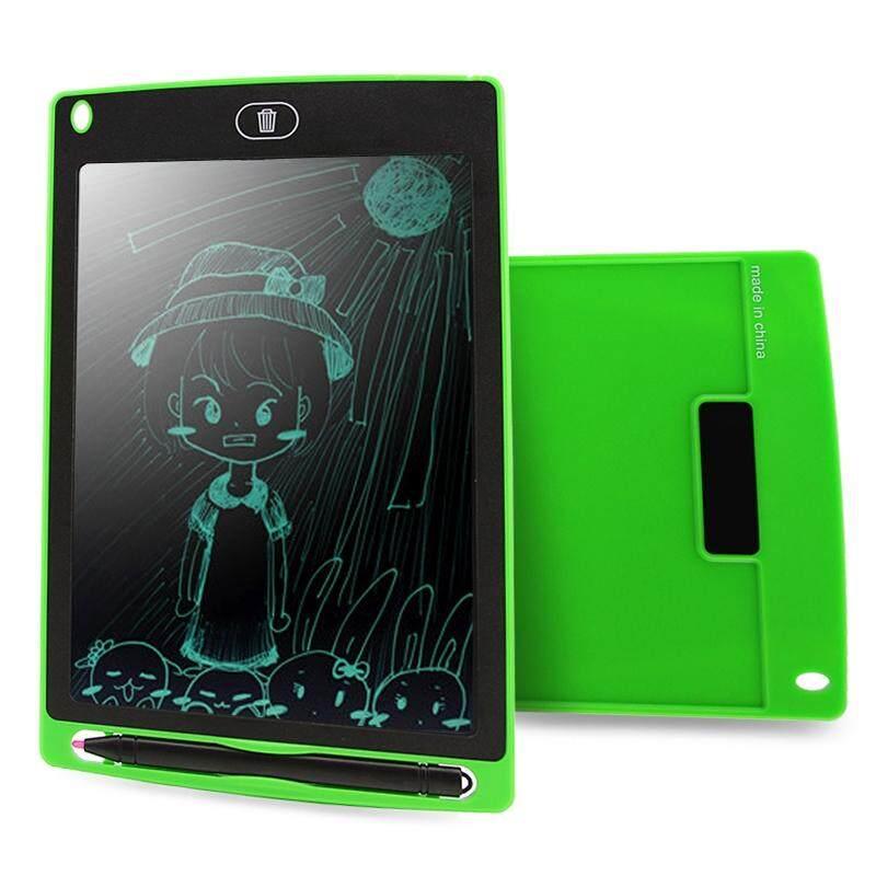 Chuyi Portabel 8.5 Inch LCD Menulis Tablet Menggambar Coretan Handwriting Elektronik Alas Pesan Papan Grafis Draft Kertas dengan Pena Menulis, CE/FCC/RoHS Sertifikat (Hijau)-Internasional