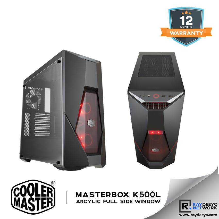 Cooler Master MasterBox K500L Gaming Chassis - (included 2 x RED LED Fan) [ATX, Matx, Mini-ITX] Malaysia