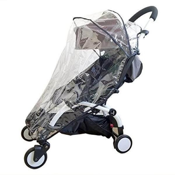 ROMIRUS Weather Shield, Rain Cover for Babyzen YOYO YOYO+ Stroller, Waterproof, Windproof, See Thru, Ventilation, Clear, Plastic, Protection, Shade, Umbrella, Pram, Vinyl - intl