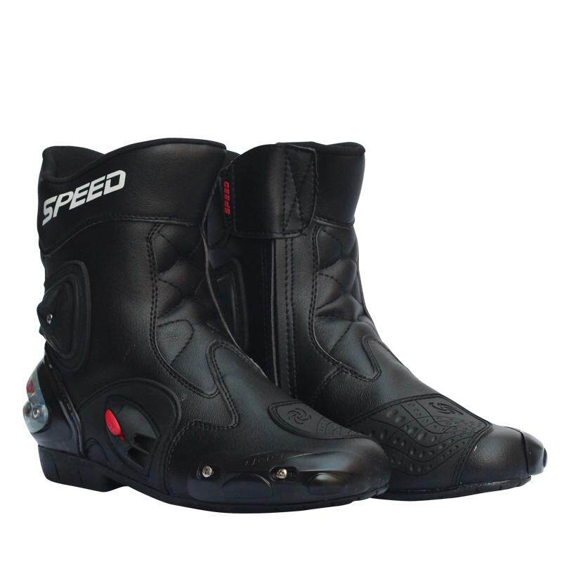d502a15320 Lucky-G Men Motorcycle Racing Shoes Leather Motorcycle Boots Riding  Motorbike Motocross Off-Road