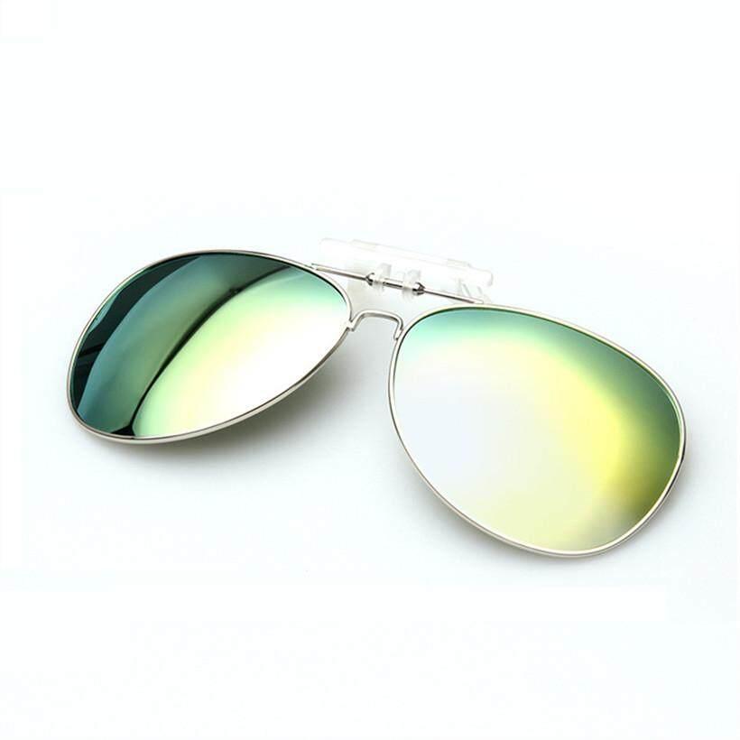 Yooske Penerbangan Pria Terpolarisasi Klip On Kacamata Hitam Pria Wanita Pilot Matahari Kacamata UV400 Klip Myopia