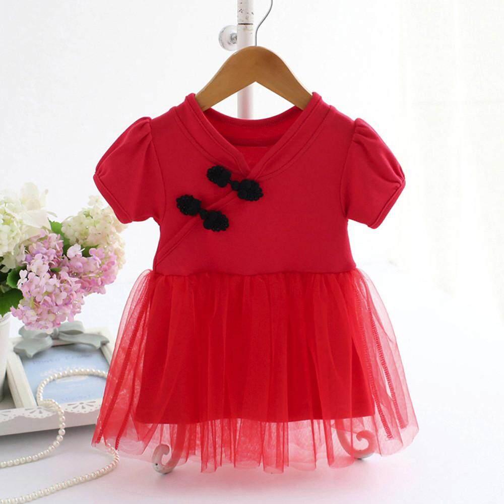 Bayi Perempuan Bayi Balita Renda Cina Tutu Pakaian Pesta Putri Gaun-Internasional