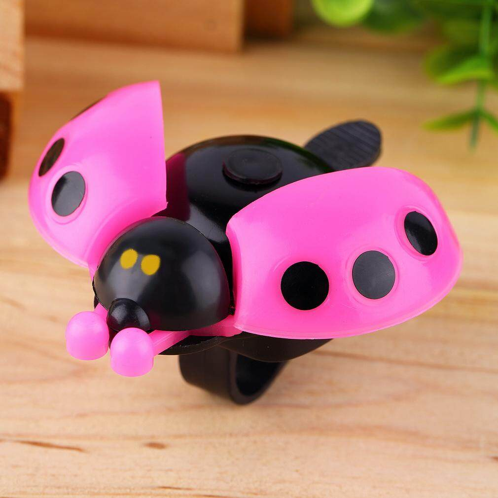 Lovely Kid Beetle Ladybug Ring Bell For Cycling Bicycle Bike Ride Horn Alarm - intl