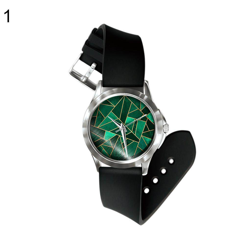 Sanwood® Abstract Geometric Printed Dial Women Men Stylish Quartz Analog Wrist Watch (1#) Malaysia
